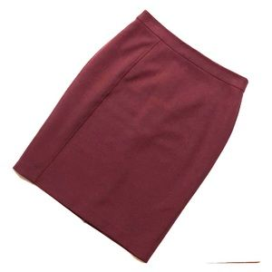 Nordstrom Halogen Burgundy Stretchy Pencil Skirt 4